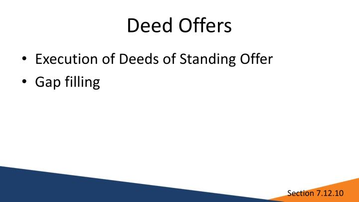 Deed Offers