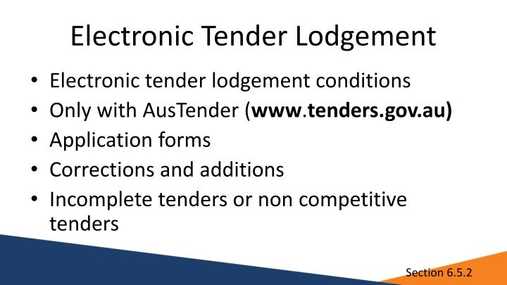 Electronic Tender Lodgement