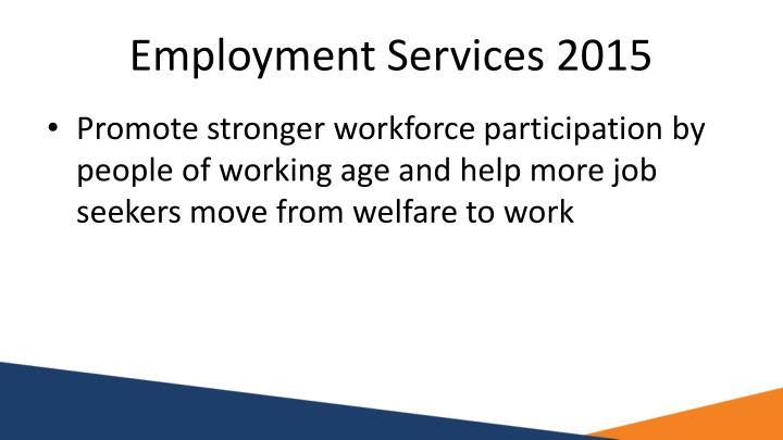 Employment Services 2015