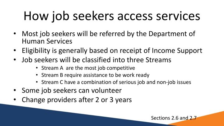 How job seekers access services