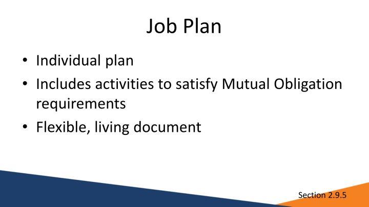 Job Plan