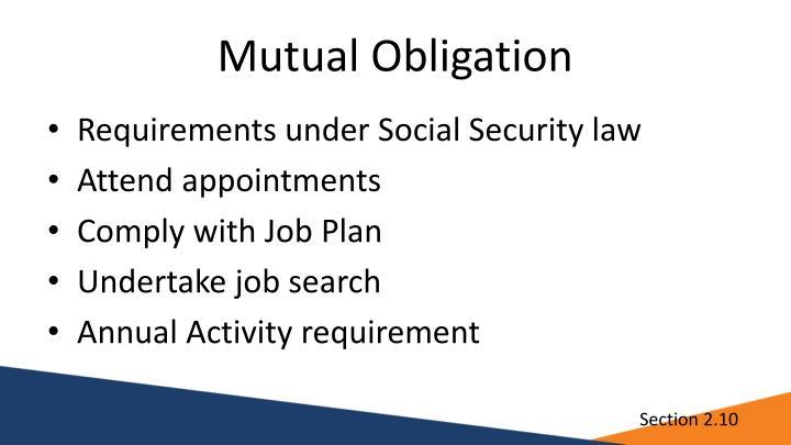 Mutual Obligation