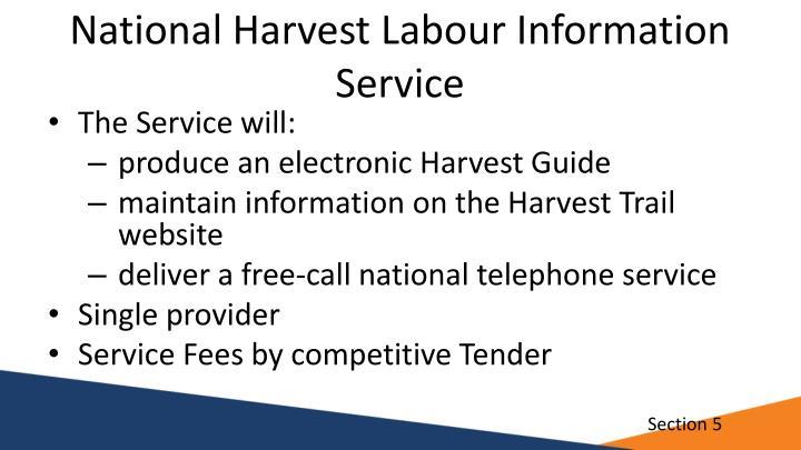 National Harvest Labour Information Service