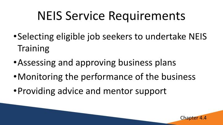 NEIS Service Requirements