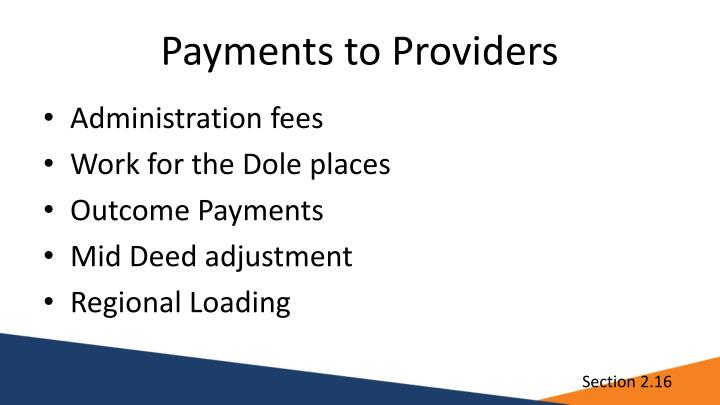 Payments to Providers