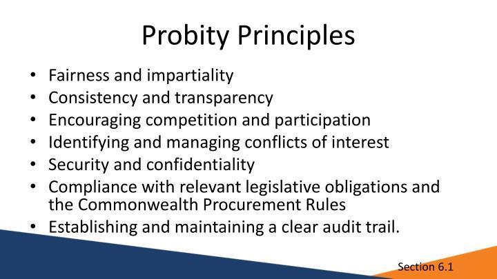 Probity Principles