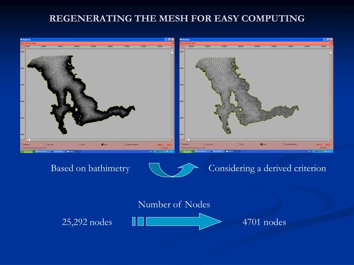 REGENERATING THE MESH FOR EASY COMPUTING