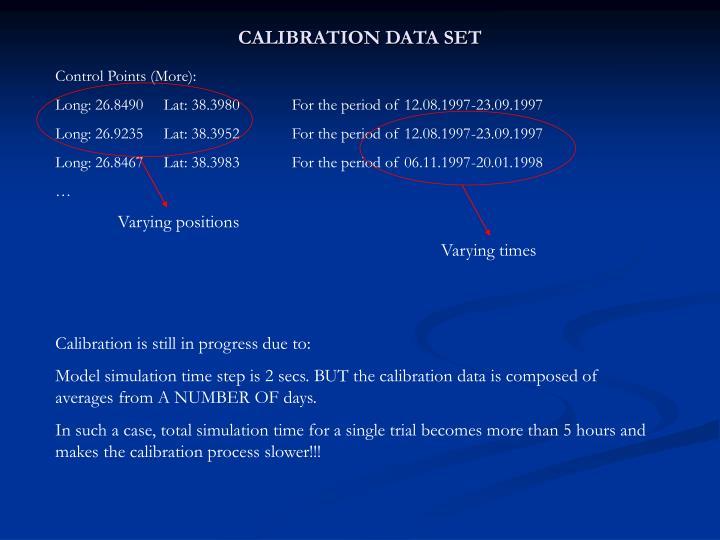 CALIBRATION DATA SET