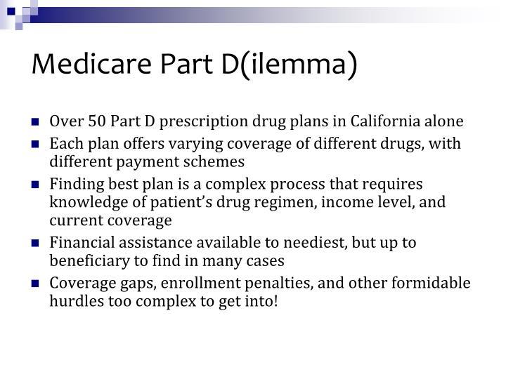 Medicare Part D(ilemma)