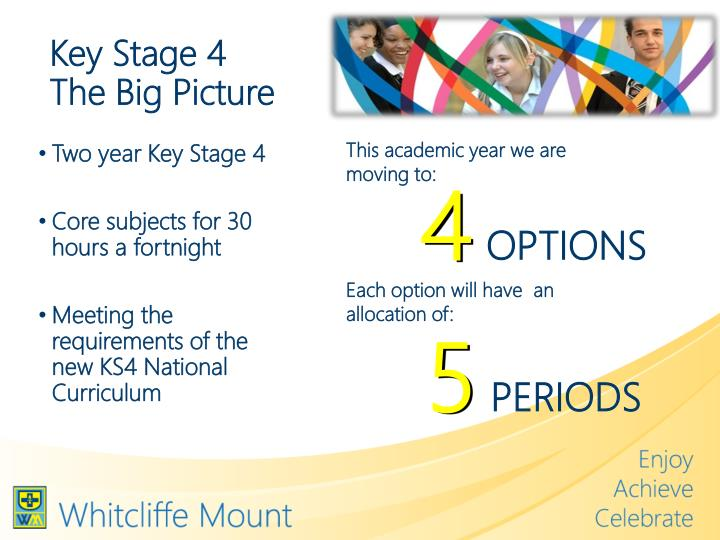Key stage 4 the big picture