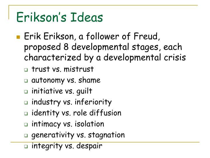 Erikson's Ideas