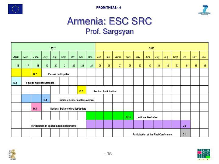 Armenia: ESC SRC