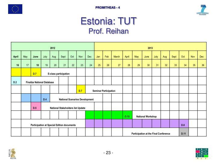 Estonia: TUT