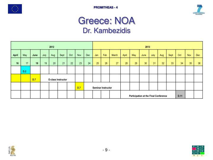 Greece: NOA