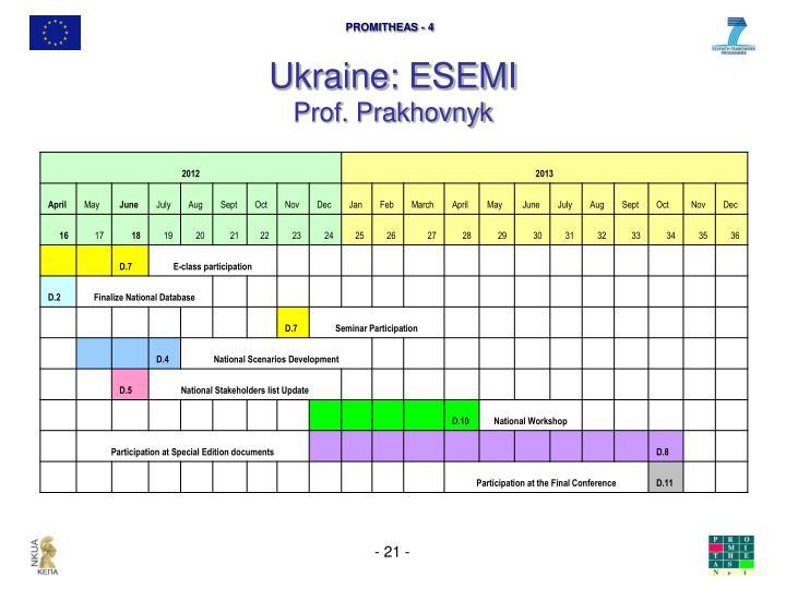 Ukraine: ESEMI