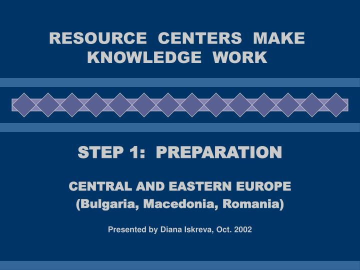 Resource centers make knowledge work