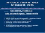 resource centers make knowledge work14