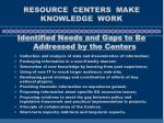 resource centers make knowledge work18