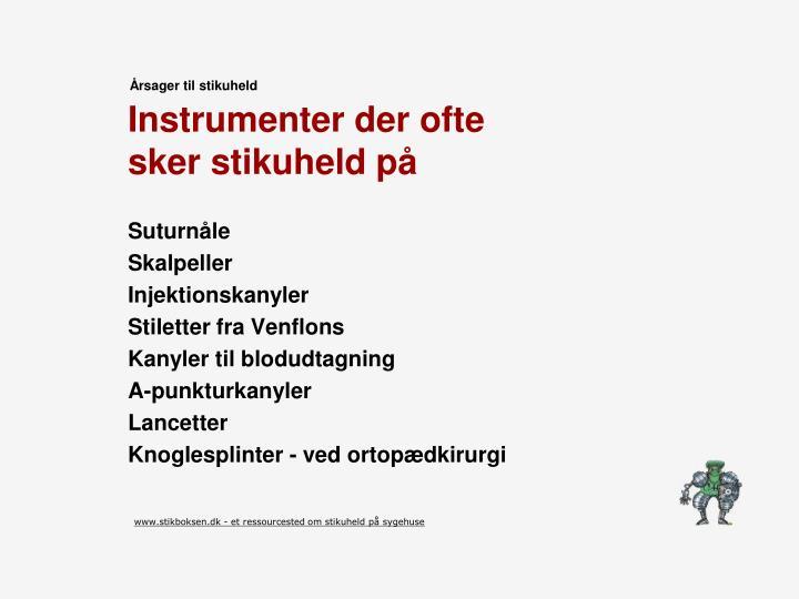 Instrumenter der ofte