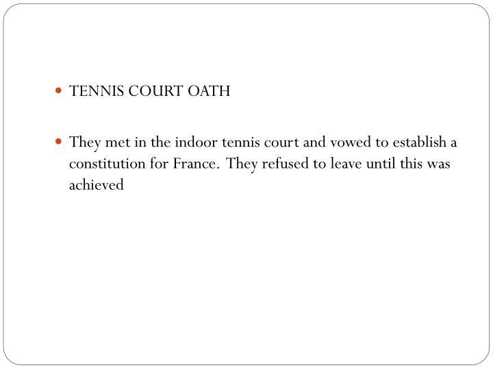 TENNIS COURT OATH