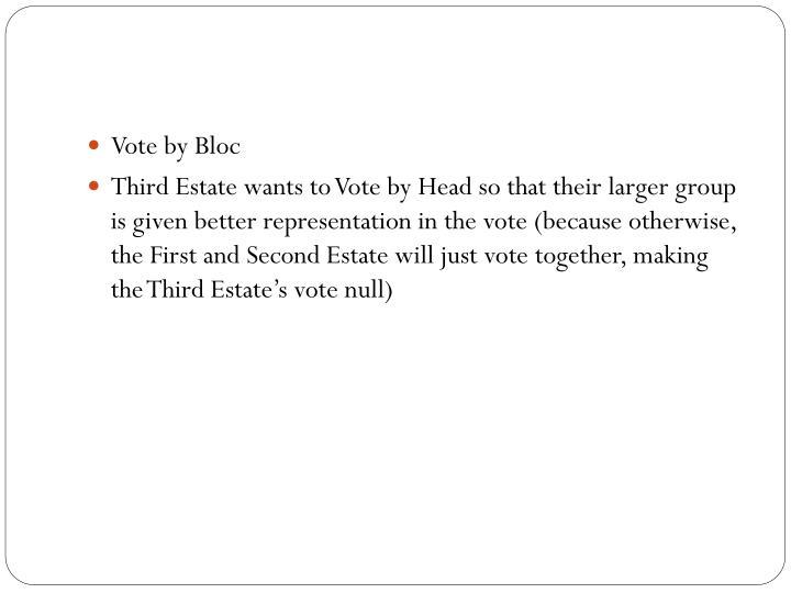 Vote by Bloc