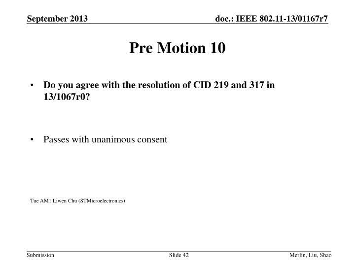 Pre Motion 10