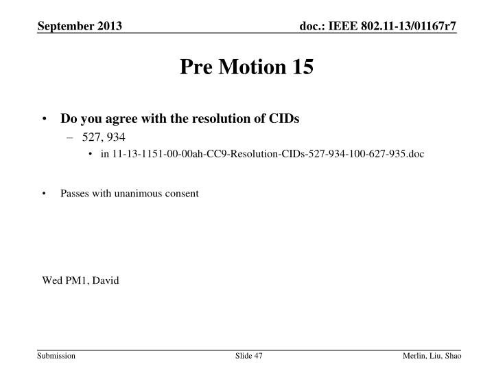 Pre Motion 15
