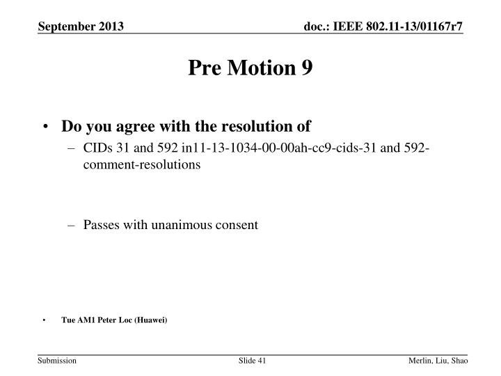 Pre Motion