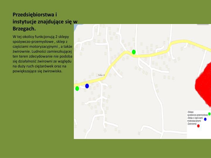Przedsiębiorstwa i instytucje znajdujące się w Brzegach.