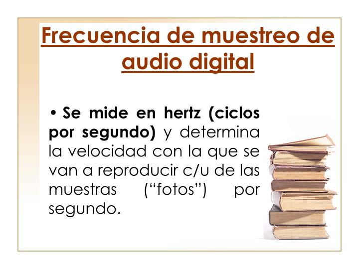 Frecuencia de muestreo de audio digital