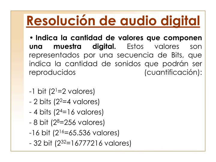 Resolución de audio digital