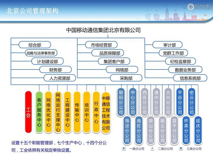 北京公司管理架构