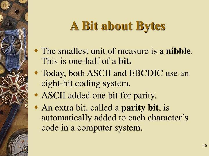 A Bit about Bytes