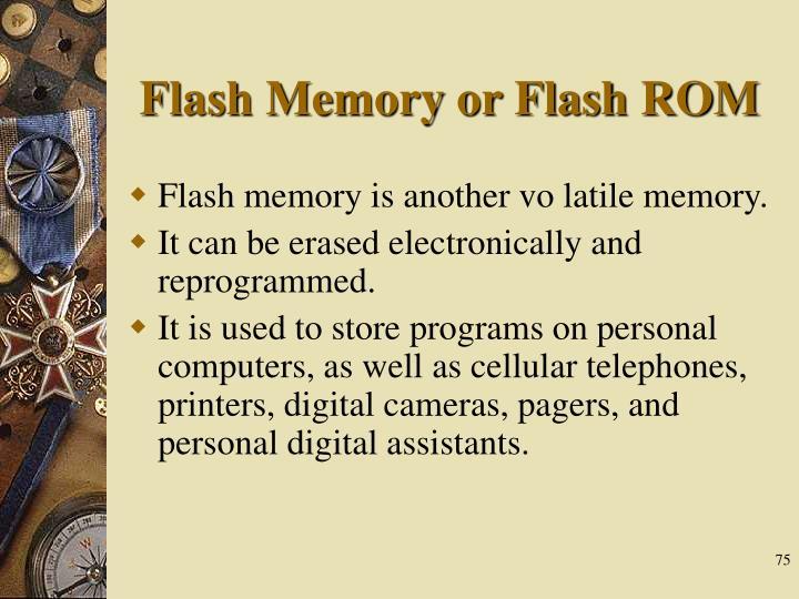Flash Memory or Flash ROM