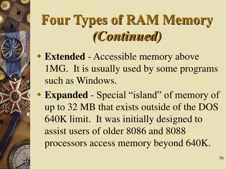 Four Types of RAM Memory