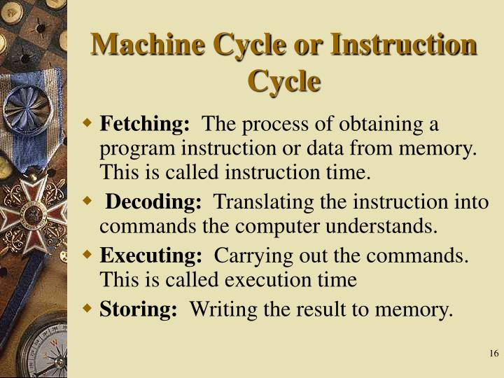 Machine Cycle or Instruction Cycle