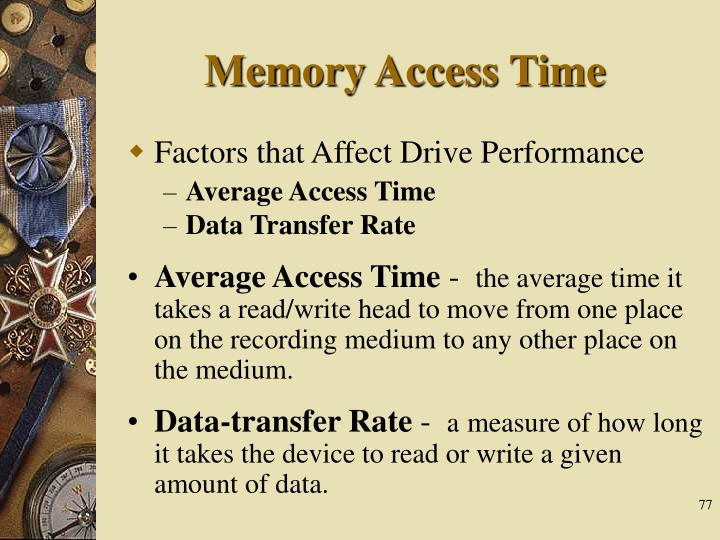 Memory Access Time