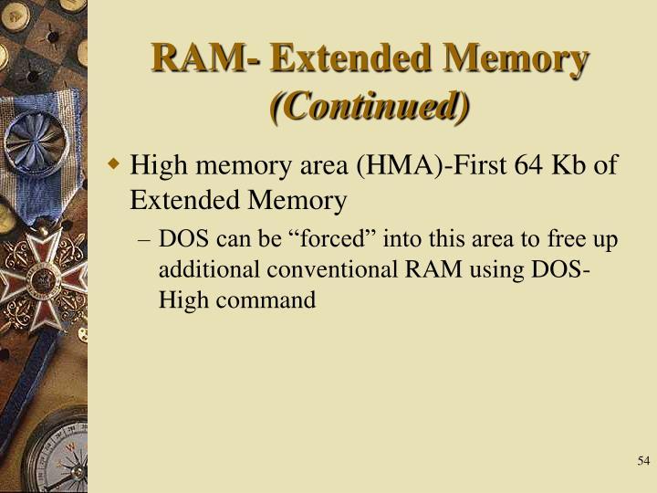 RAM- Extended Memory
