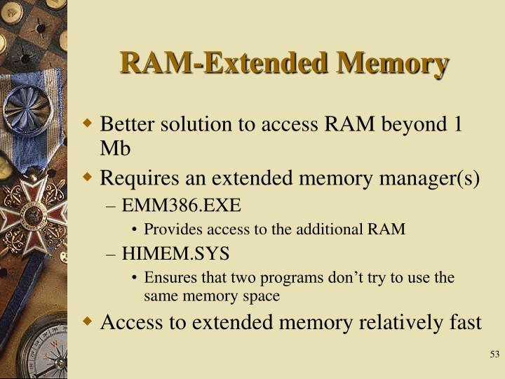 RAM-Extended Memory