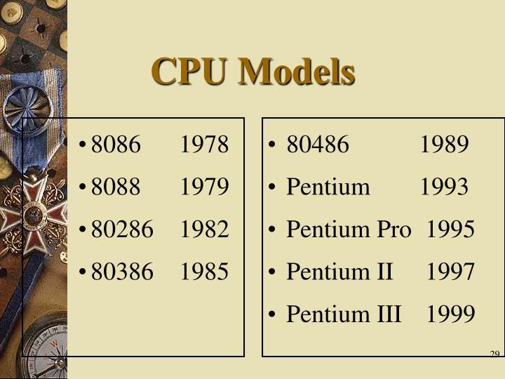 CPU Models
