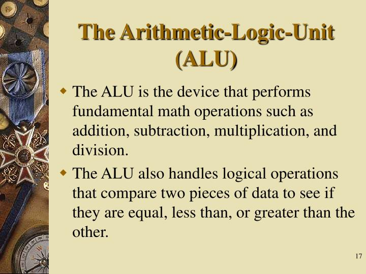 The Arithmetic-Logic-Unit