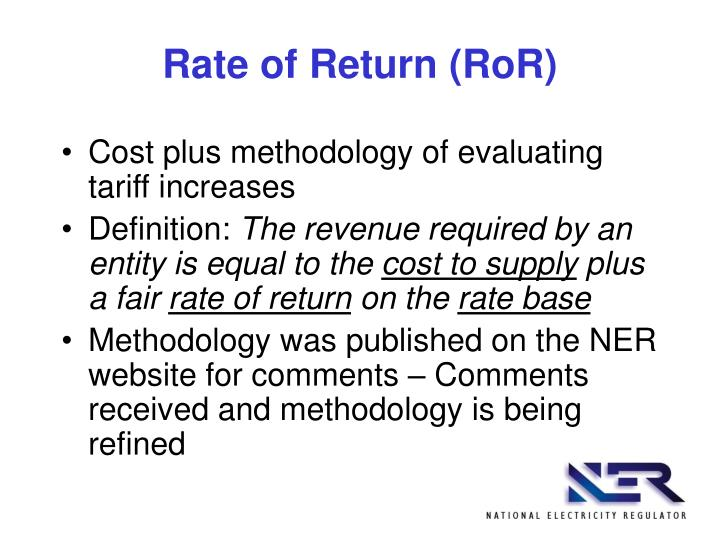 Rate of Return (RoR)