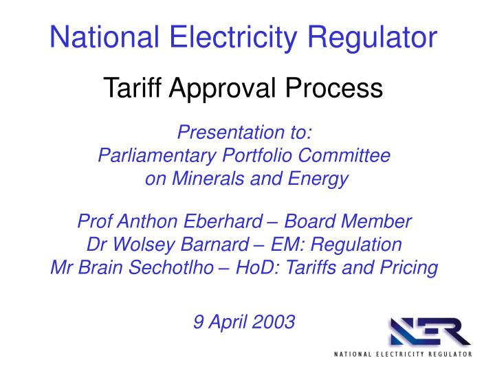 National Electricity Regulator