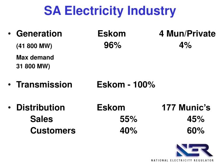 SA Electricity Industry