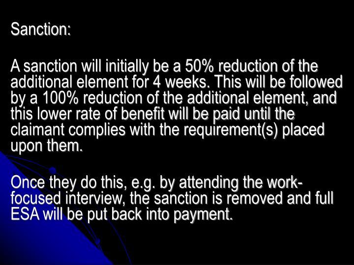 Sanction: