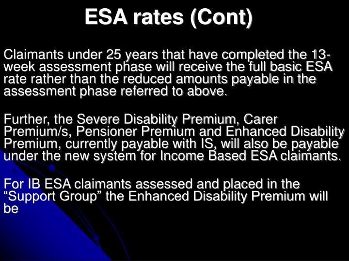 ESA rates (Cont)