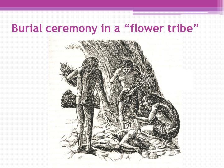 "Burial ceremony in a ""flower tribe"""
