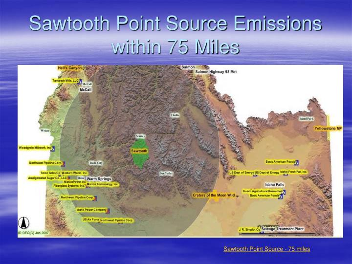 Sawtooth Point Source Emissions within 75 Miles