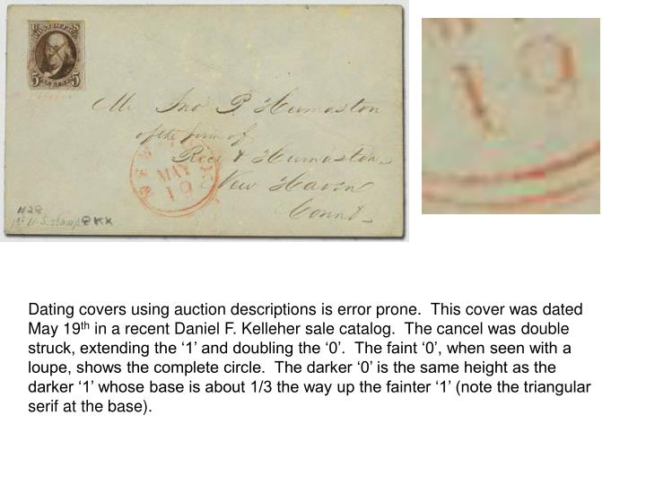 Dating covers using auction descriptions is error prone.  This cover was dated May 19
