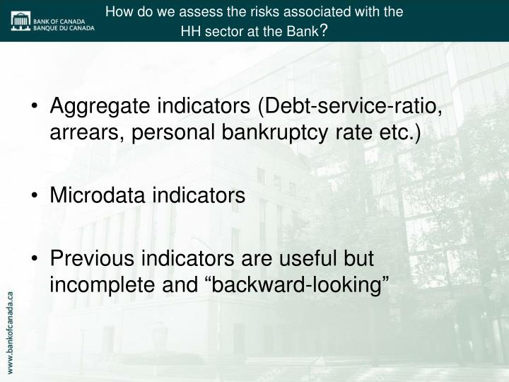 How do we assess the risks associated with the hh sector at the bank